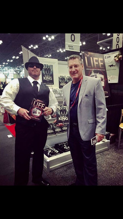 Gunner with former New York mobster Larry Mazza