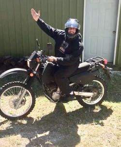 Gunner on his dirt bike