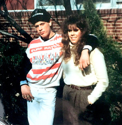 Young Gunner with his sister Ann Marie