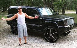 Gunner and His Beloved Jeep Commander