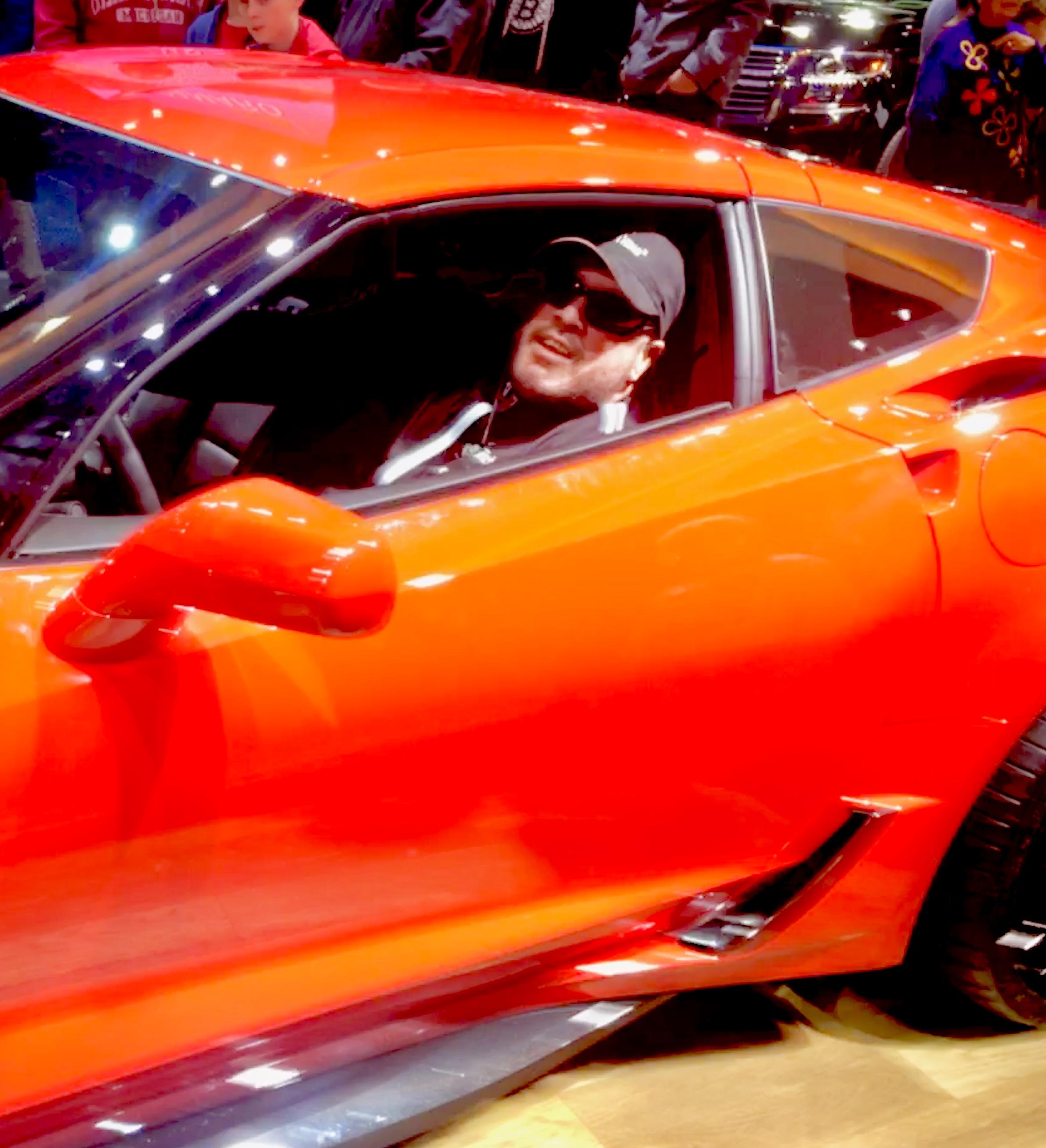 Gunner in a 2018 Corvette