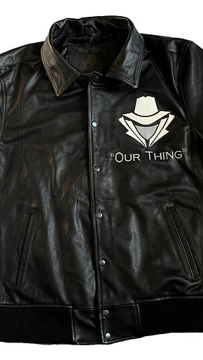 "#EM0012 ""OUR THING"" LEATHER JACKET"
