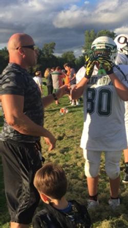 Gunner coaching his godson Luigi