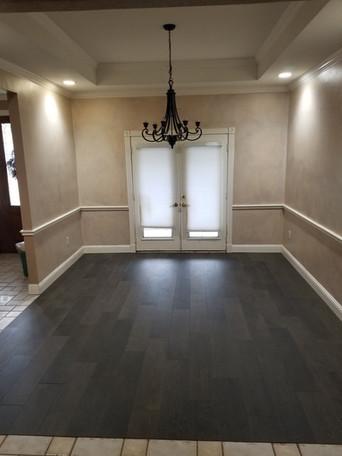 Completed Wood Look Tile Floor