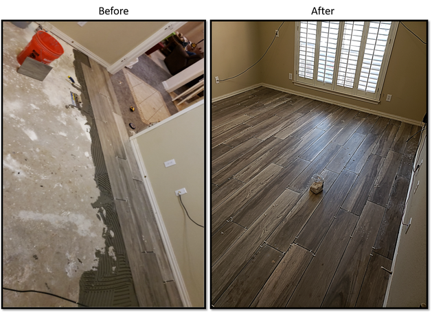 Tile Flooring Before and After