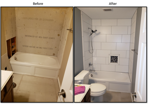 Shower 2 Before and After