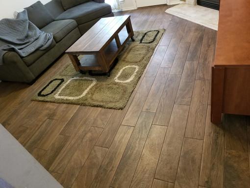 Completed Wood Look Tile Floors
