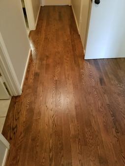 Refinished Solid Hardwood Floors