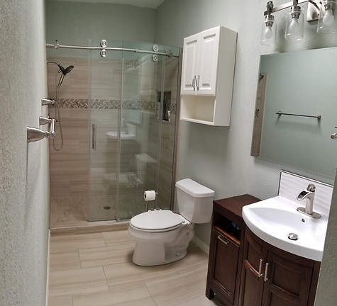 Completed Full Bathroom Remodel