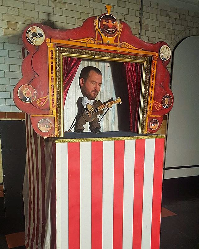 Puppet Booth and puppet made for Paul Mo