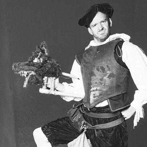 Rabid dog & dog handler