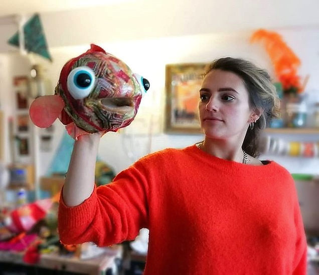 Woman and puppet