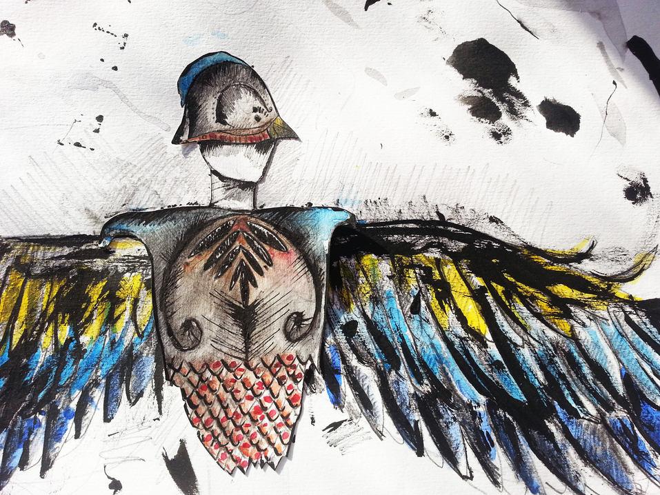 Swallow drawing