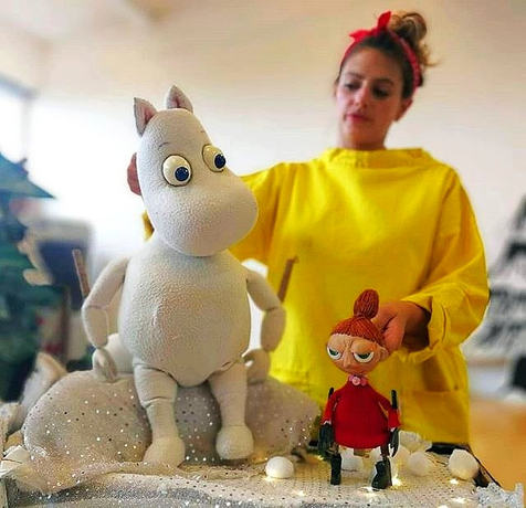 Me and my squidgey face with my Moomin p