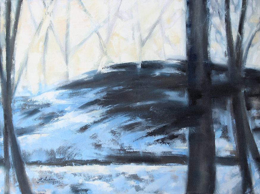 Black Forest. Oil painting on canvas. Modern art by Tatiana Alekseeva.