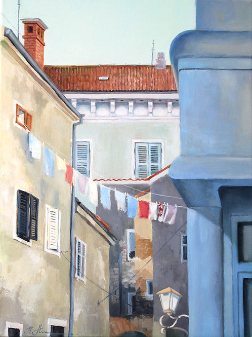 Old street of Rovinj, Croatia
