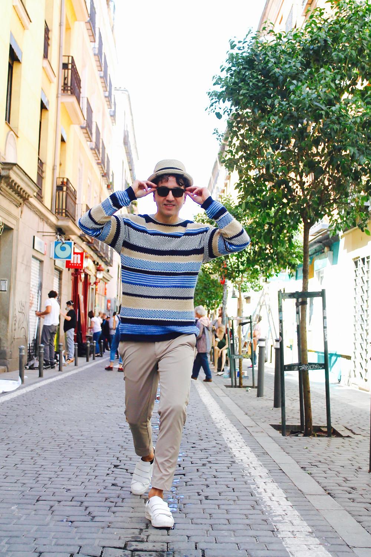 The trendy man en las calles de Malasaña