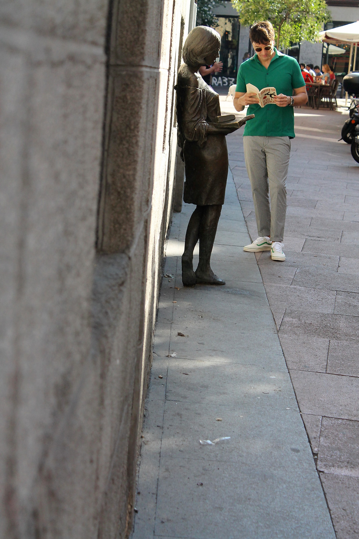 La estatua de Julia está en la calle del Pez en Madrid