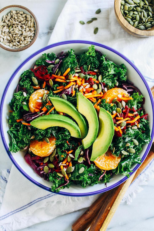Ensalada de Kale vegana