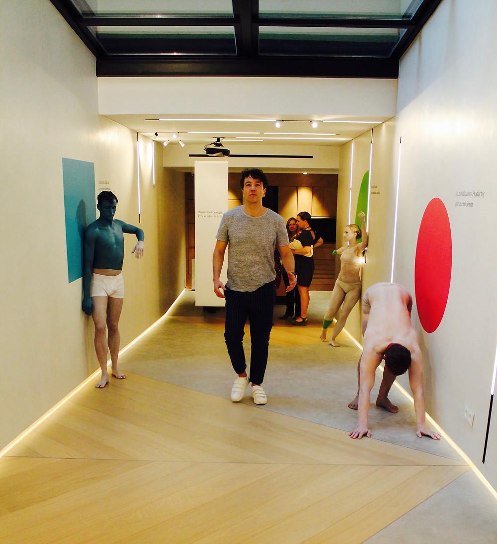 the trendy man en las instalaciones de id.real en Madrid