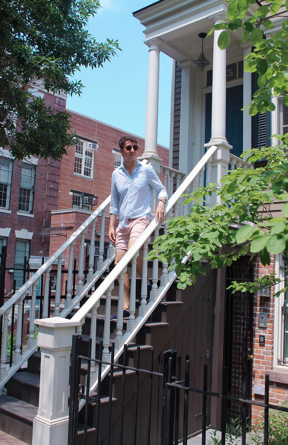 Miguel Biedma en el barrio de DUMBO en Broockyn
