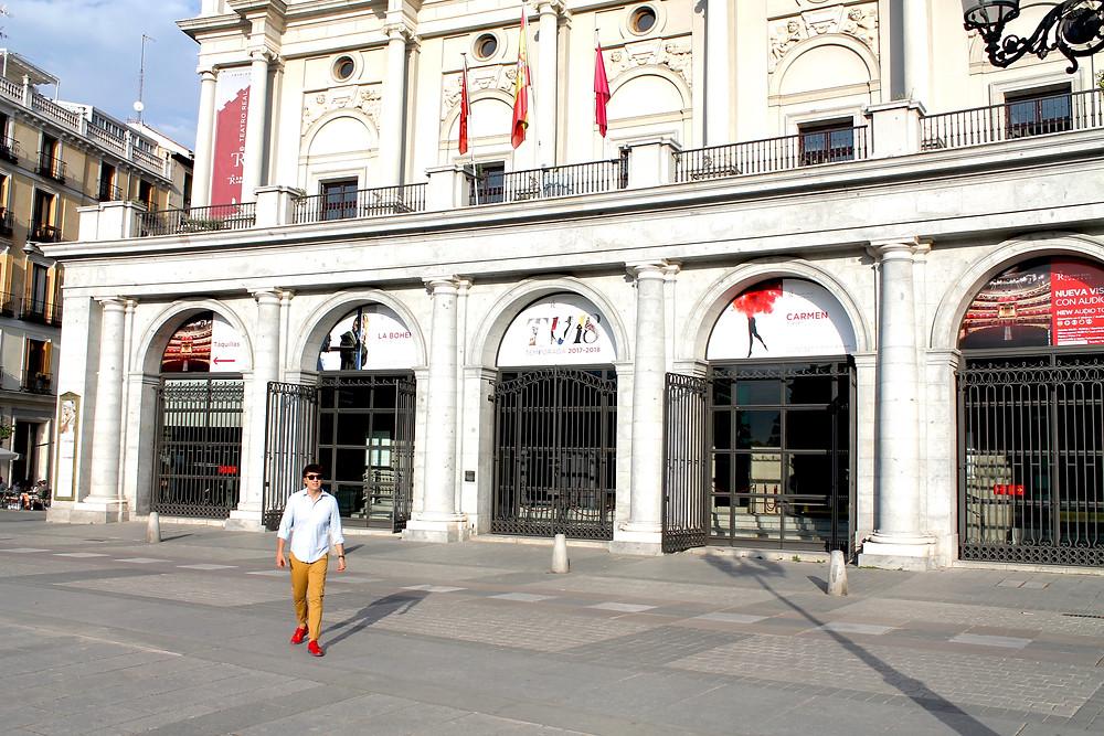 The Trendy Man en la Plaza de Oriente de Madrid