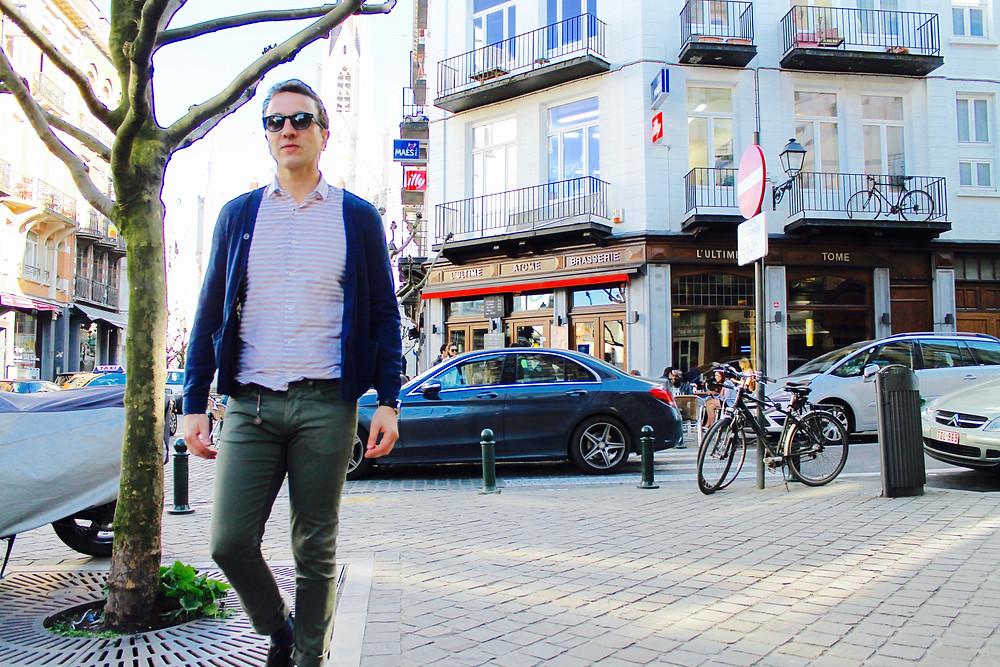 The trendy man en Bruselas