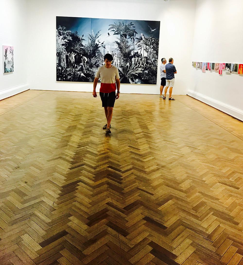 Miguel Biedma en el Museo de Bellas Artes de Chile