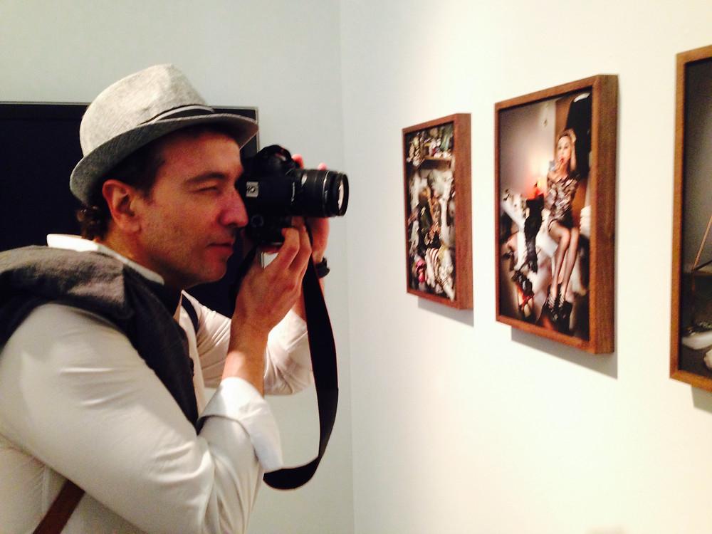 Miguel Biedma en el Museo de Arte Contemporáneo de Roma.