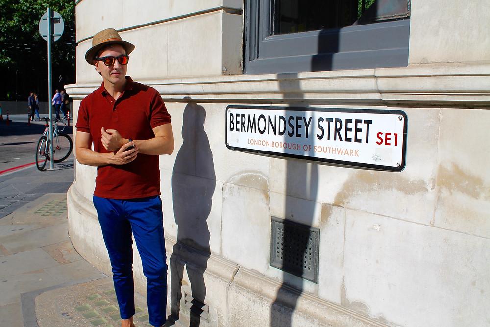 The trendy man en Bermondsey Street