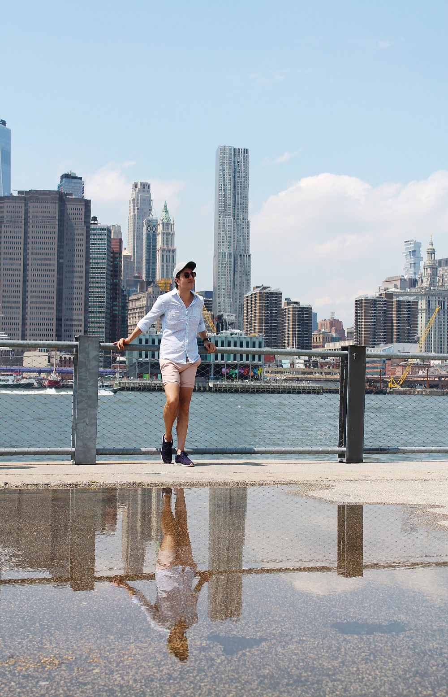 Maravillosas vistas que disfruta Miguel del Lower Manhattan desde Brooklyn