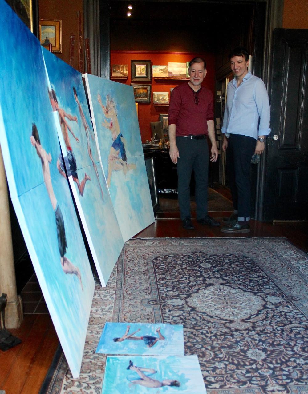 Con Dean Larson en su estudio de San Francisco, California