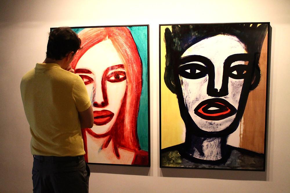 Miguel Biedma en la galería de Blanca Berlín