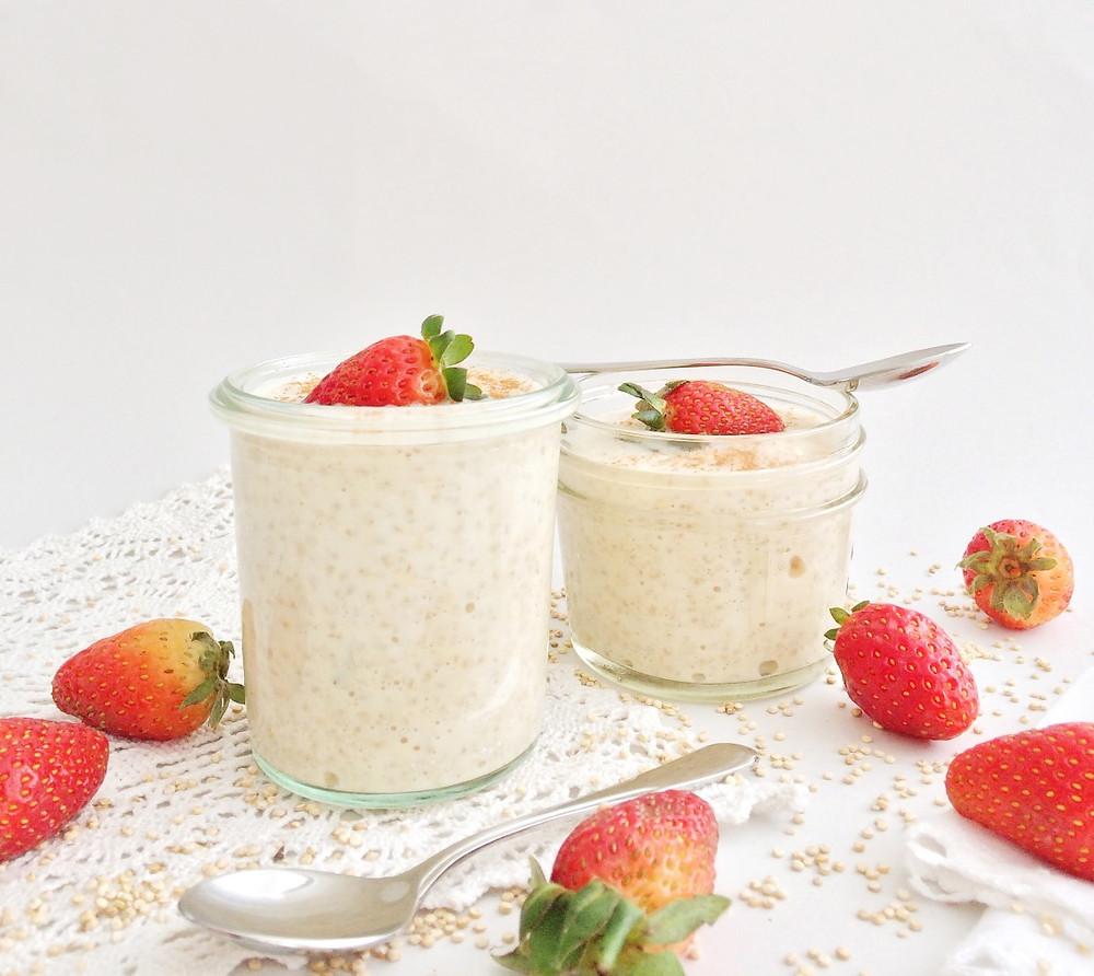 La quinoa con leche es ideal para desayunar.