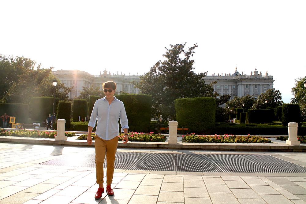 Miguel Biedma en el palacio real de Madrid