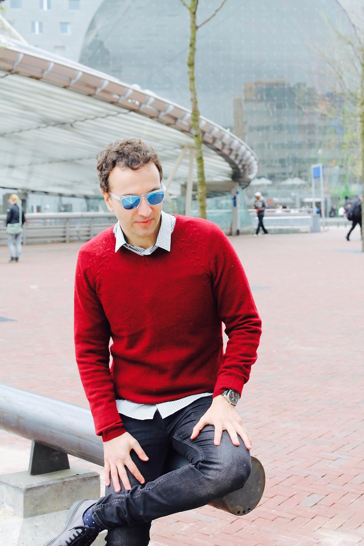 The trendy man en Rotterdam, Holanda
