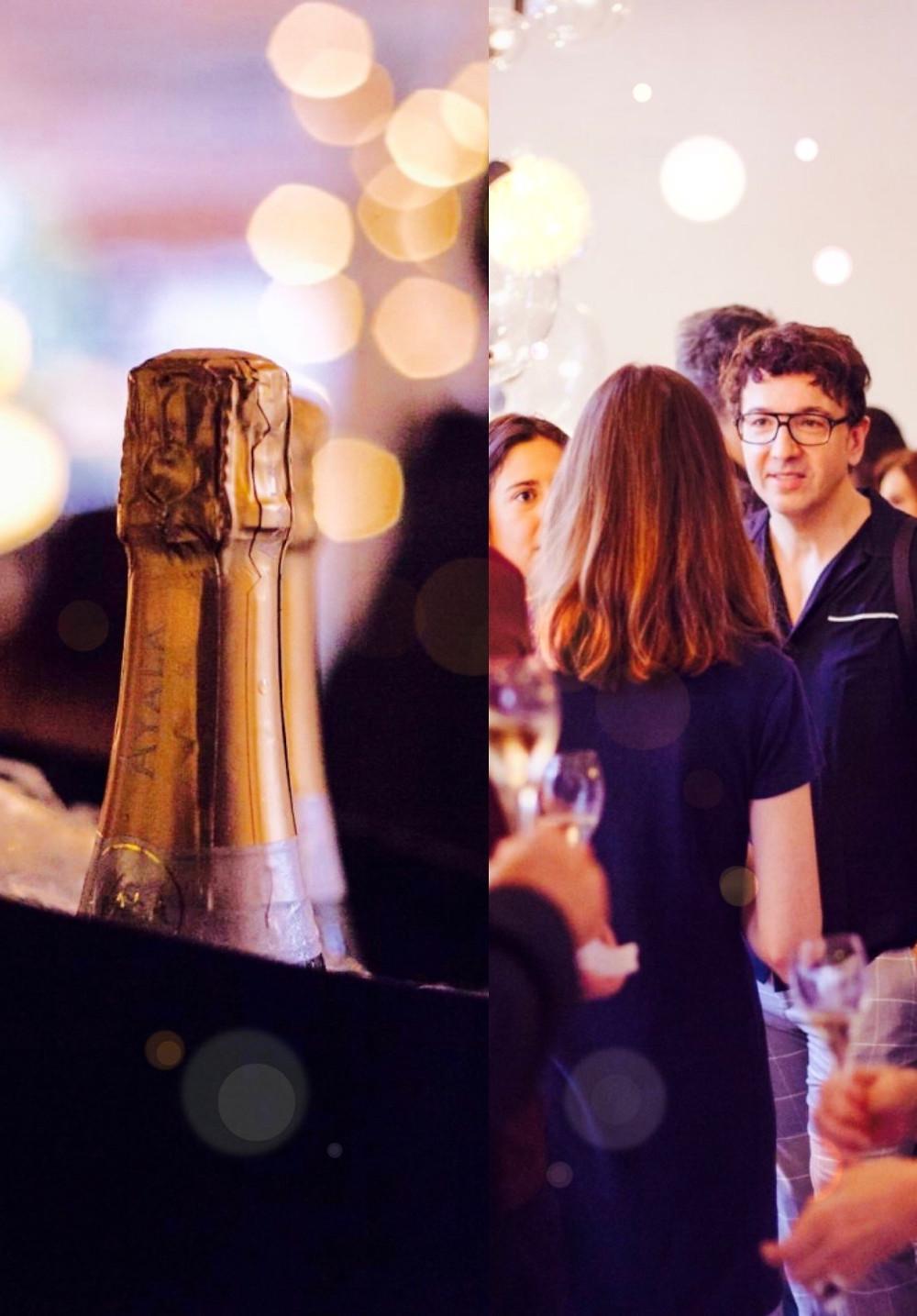 The trendy man en el evento del Champagne Ayala