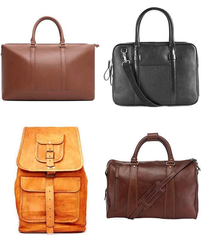 Estos son bolsos básicos de temporada para el hombre.