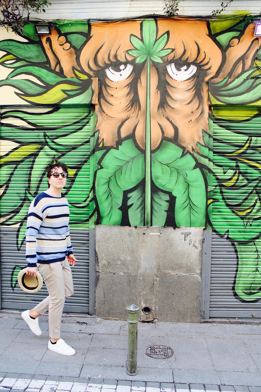 Maravilloso street art en malasaña de la mano de The Trendy Man