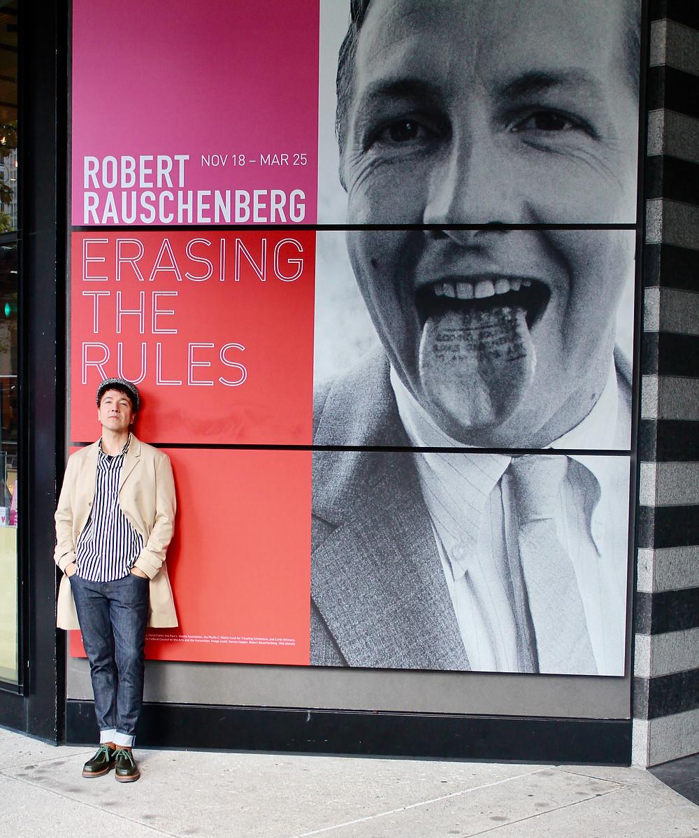 Miguel Biedma a las puertas del MOMA de San Francisco