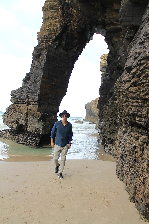 The Trendy Man en la Playa de las Catedrales en Ribadeo, Lugo