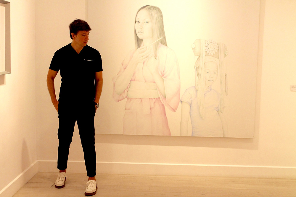The Trendy Man en la exposición de Salustiano