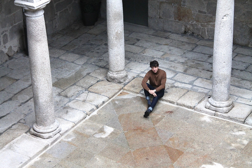 Miguel Biedma en Santo Estevo