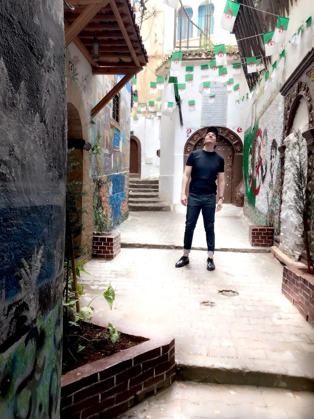 Miguel Biedma en la Casbah de Argel