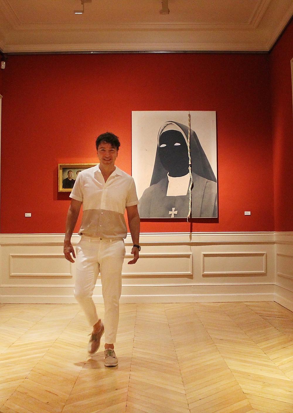 The Trendy Man en la exposición de Carmen Calvo