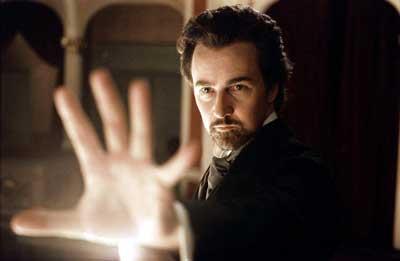 "Ed Norton starring in ""The Illusionist"" movie 2006"