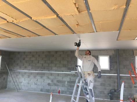 Faux plafond et isolation laine de bois