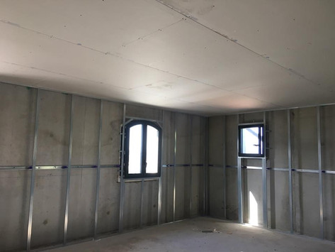 faux plafond et préparation du doublage