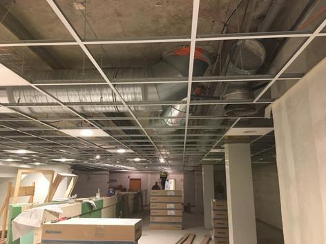 pause de faux plafond en cours