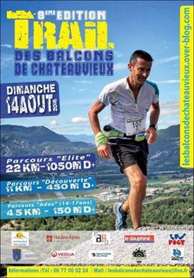 Affiche 8e édition du trail de Châteauvieux